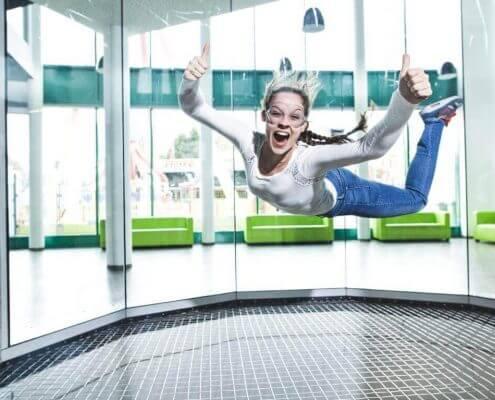 Indooraktivitäten in Wien wie Skydiving