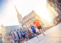 Laufen in Wien am Stephansplatz